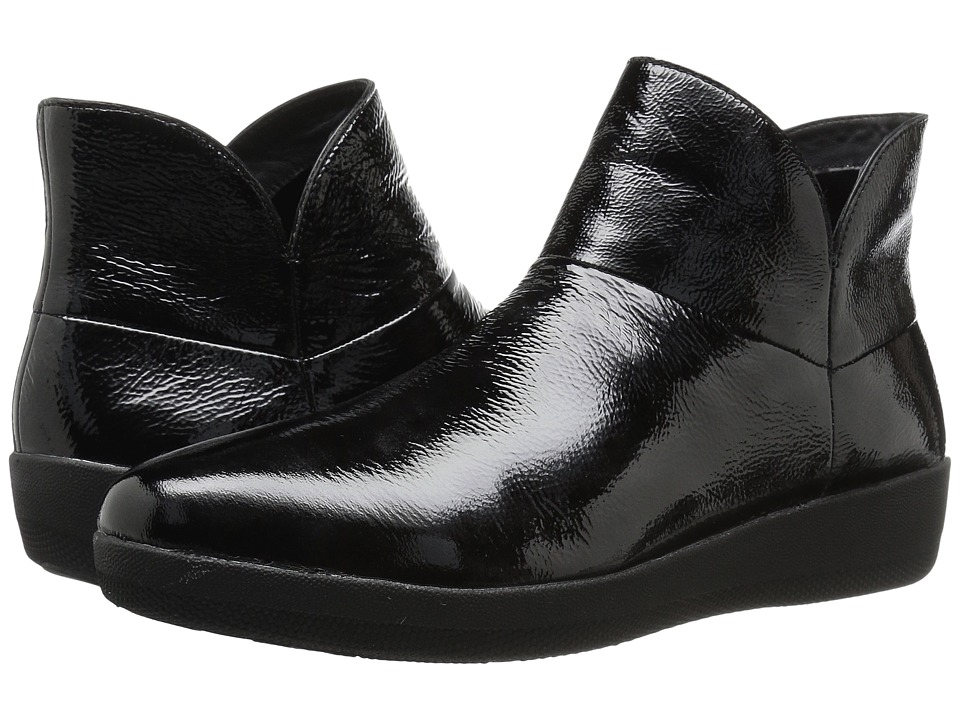 FitFlop - Supermod Leather Ankle Boot (Black 2) Women