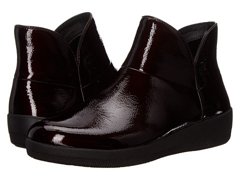 FitFlop Supermod Leather Ankle Boot - Dark Cherry