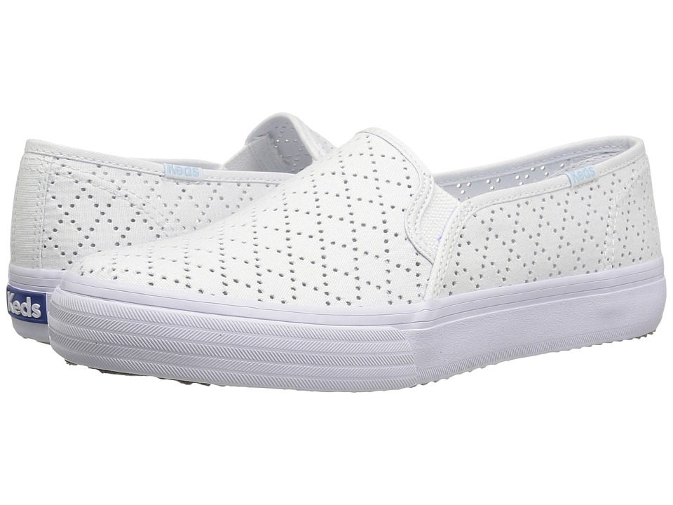 Keds Double Decker Perforated Canvas (White) Women
