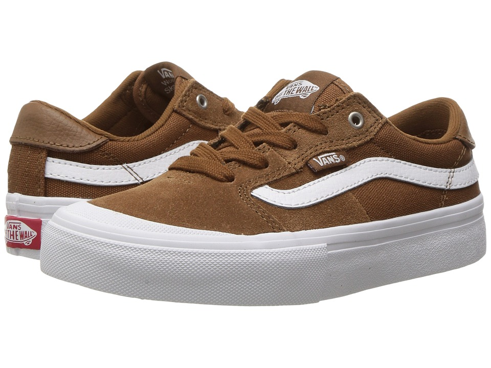 Vans Kids Style 112 Pro (Little Kid/Big Kid) (Tobacco/White) Boys Shoes
