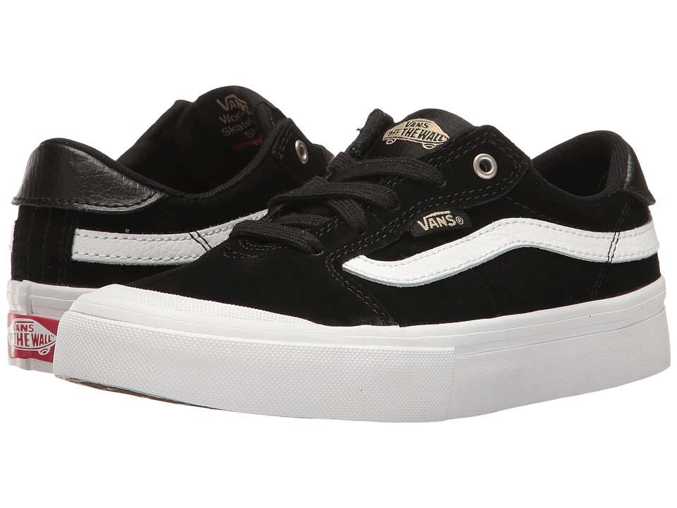 Vans Kids Style 112 Pro (Little Kid/Big Kid) (Black/Black/White) Boys Shoes