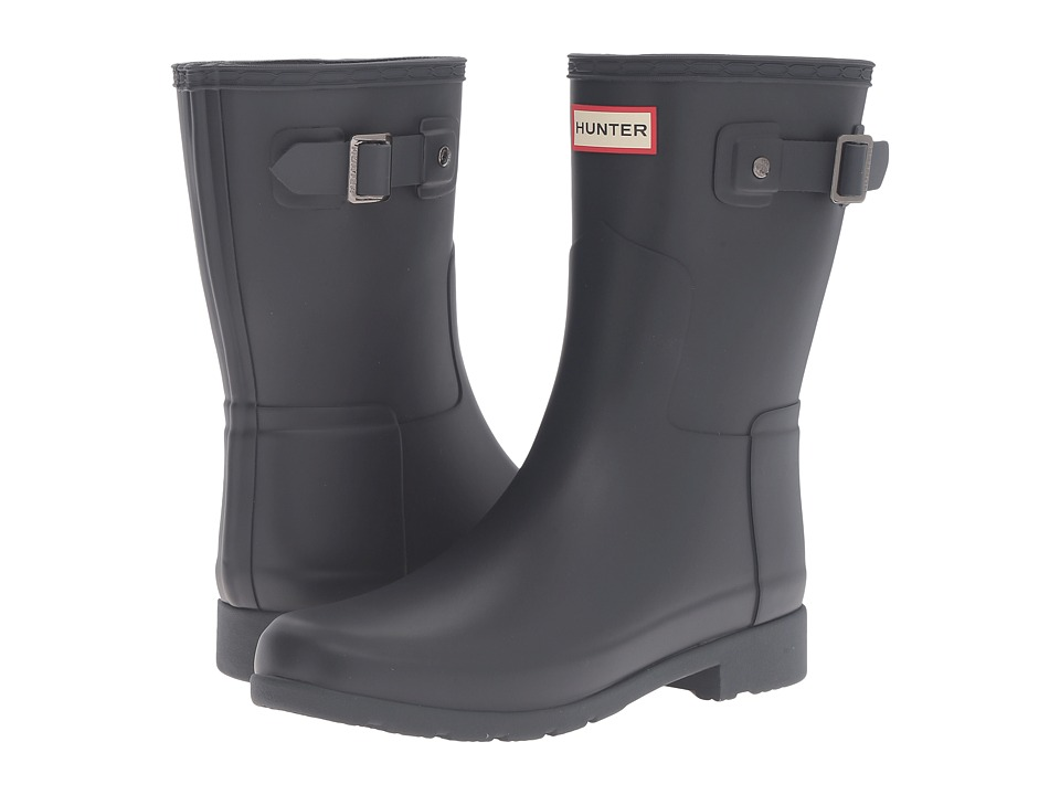 Hunter Original Refined Short Rain Boots (Navy) Women