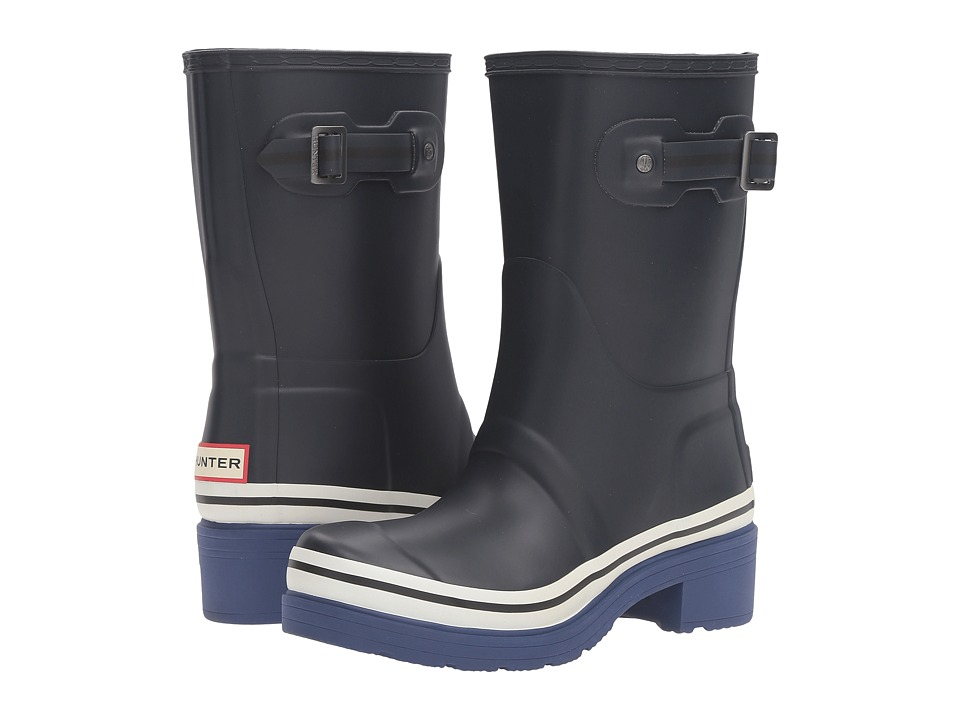 Hunter - Original Ankle Boot Buoy Stripes (Navy/Deep Cobalt/White) Women