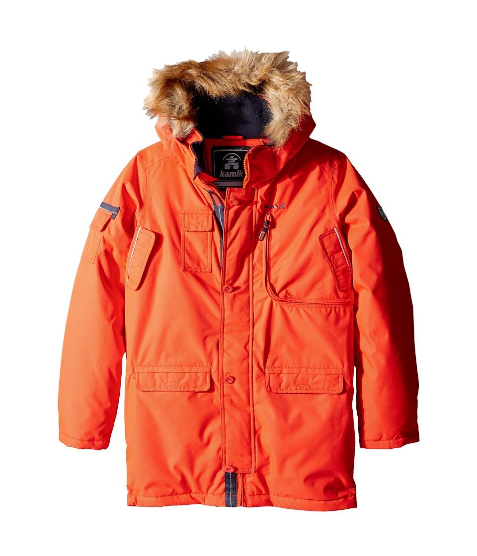 Kamik Kids Quin Winter Jacket (Little Kids/Big Kids) (Grenadine) Boy