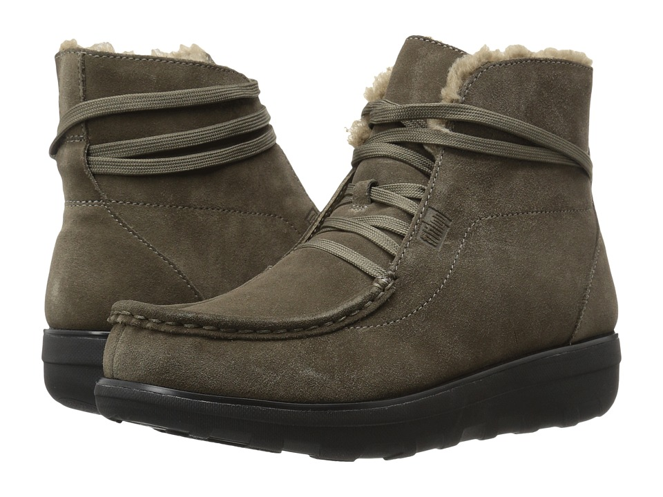 FitFlop - Loaff Lace-Up Ankle Boot (Bungee Cord) Women