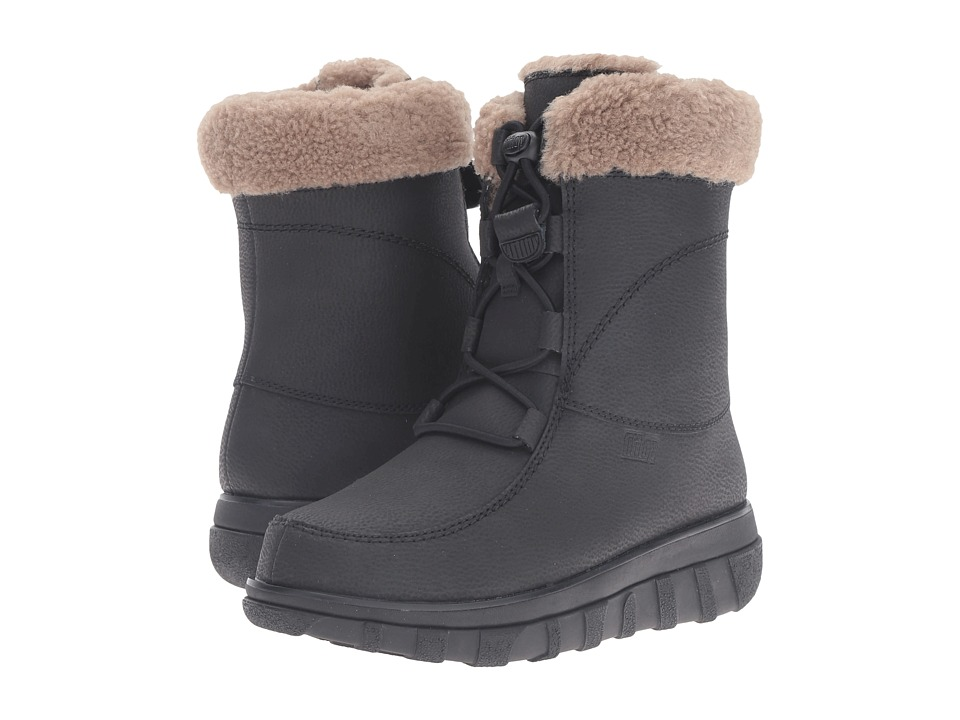 FitFlop Loaff Waterproof Lace-Up Boot (All Black) Women