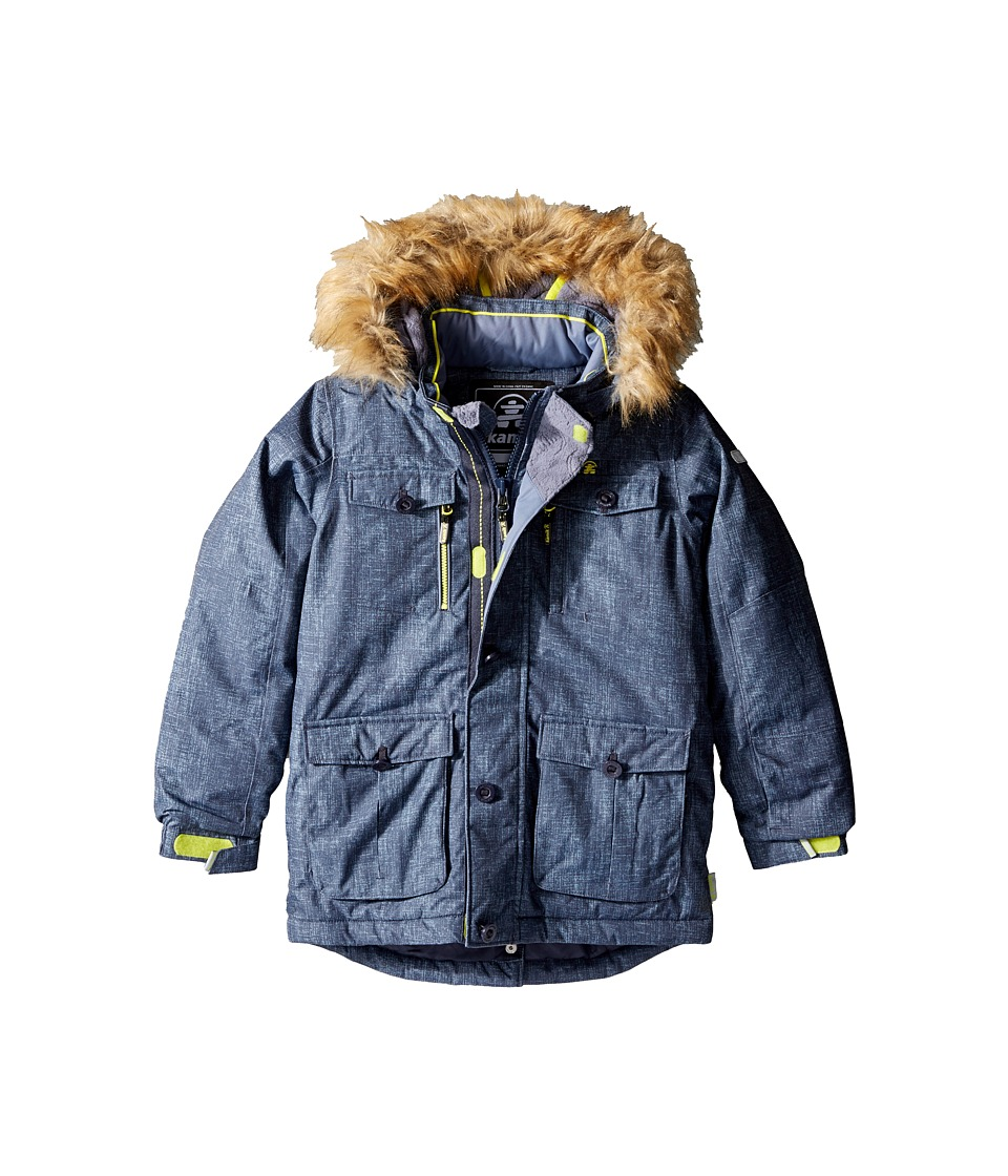 Kamik Kids Darwin Noise Winter Jacket (Toddler/Little Kids) (Graphite) Boy