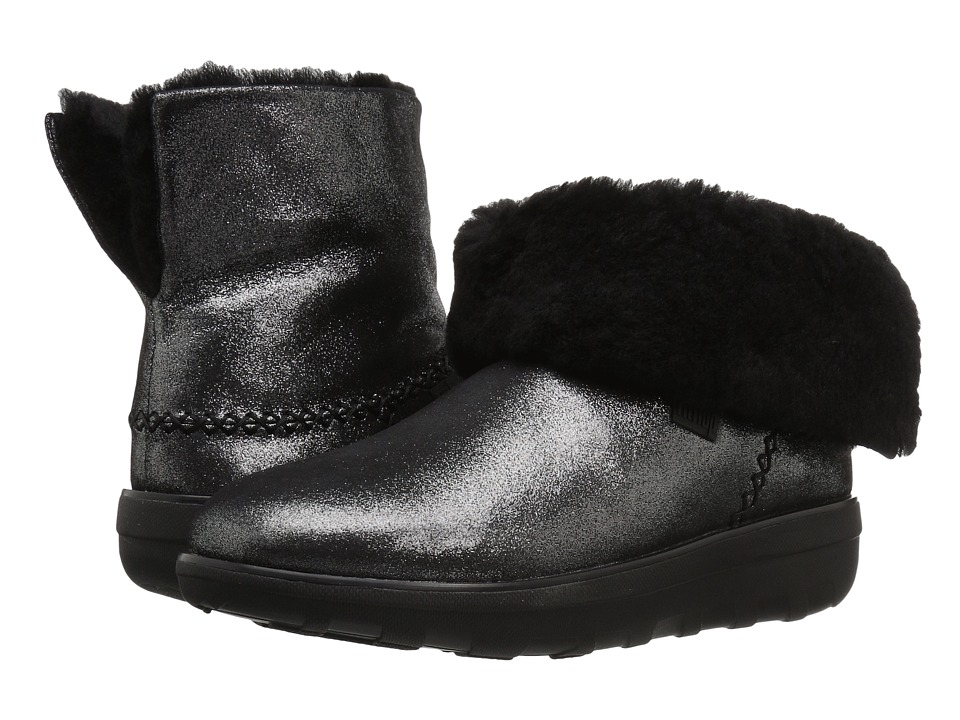 FitFlop Mukluk Shorty 2 Shimmer Boot (Black) Women