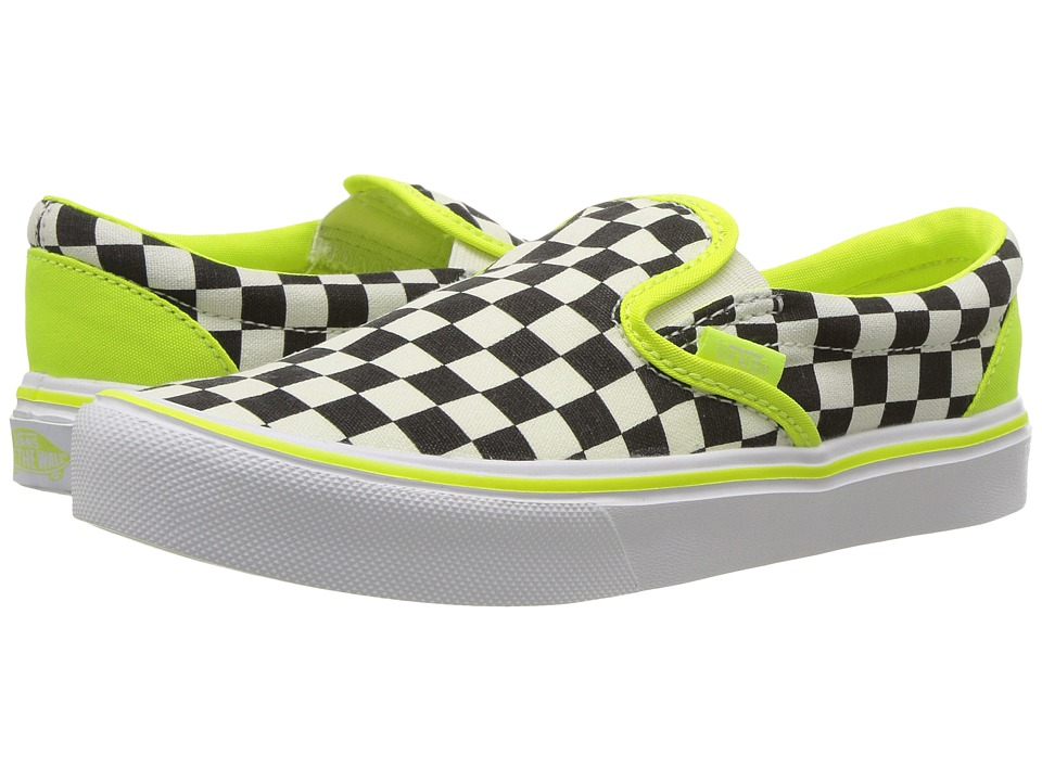 Vans Kids Classic Slip-On Lite (Little Kid/Big Kid) ((Freshness) Classic White/White) Boys Shoes