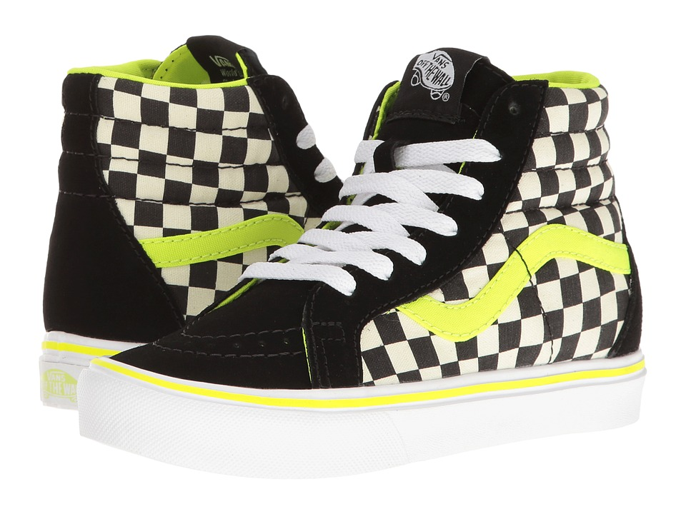 Vans Kids Sk8-Hi Reissue Lite (Little Kid/Big Kid) ((Freshness) Black/White) Boys Shoes