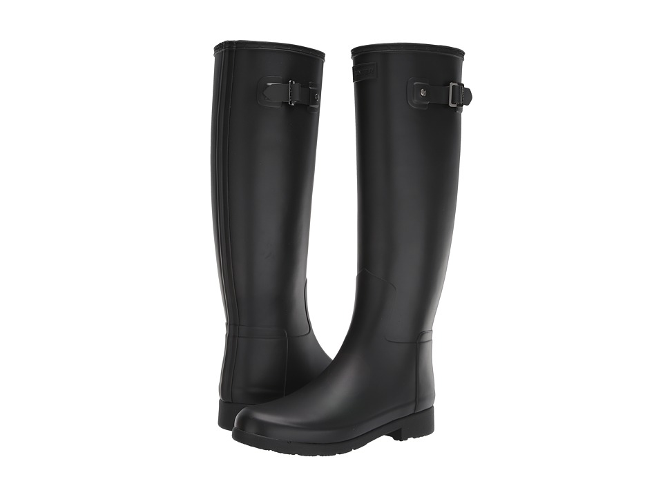 Hunter Original Refined Tall Matte (Black) Women