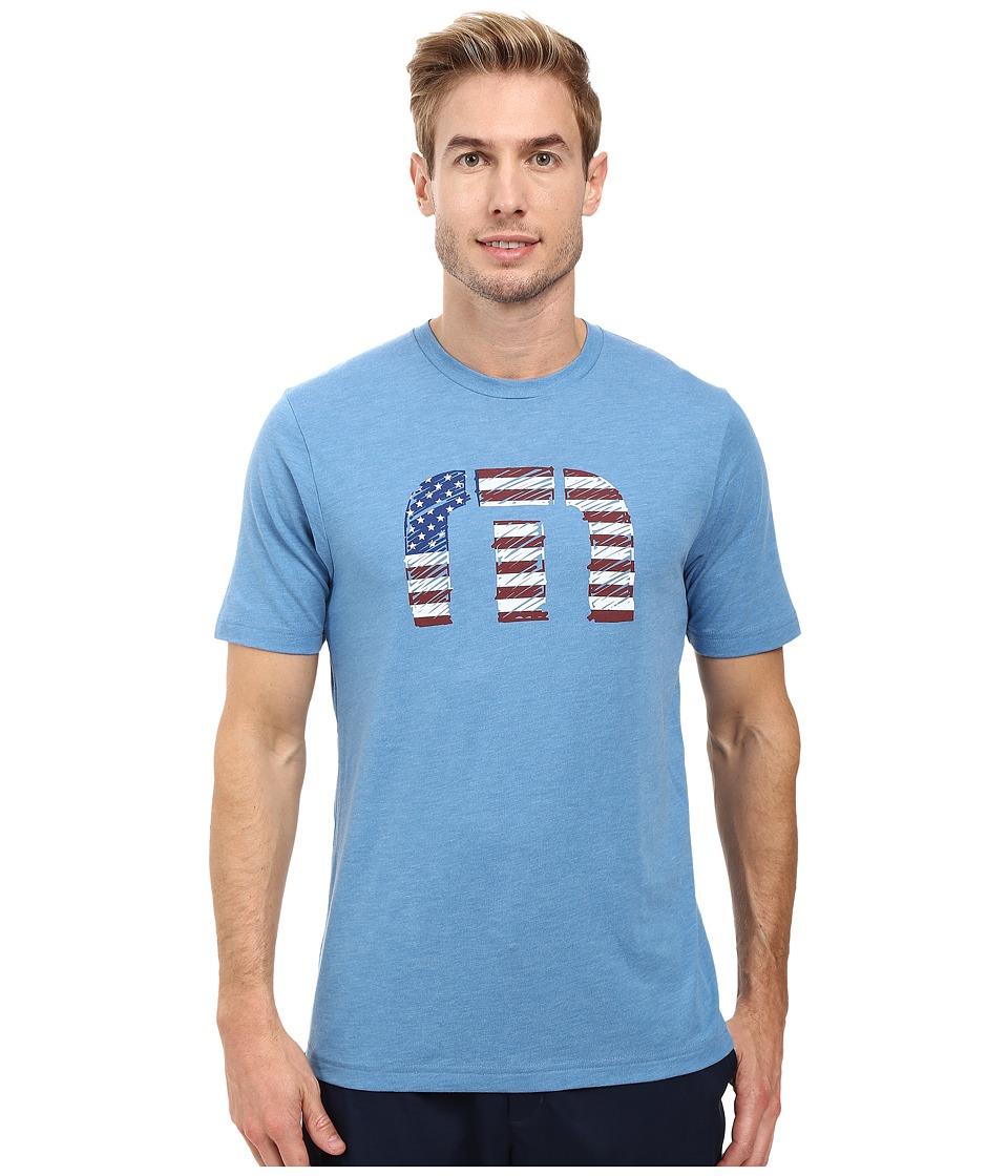 TravisMathew - Sparkler T-Shirt (Heather Blue) Men