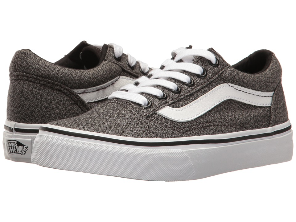 Vans Kids Old Skool (Little Kid/Big Kid) ((Suiting) Black/True White) Boys Shoes