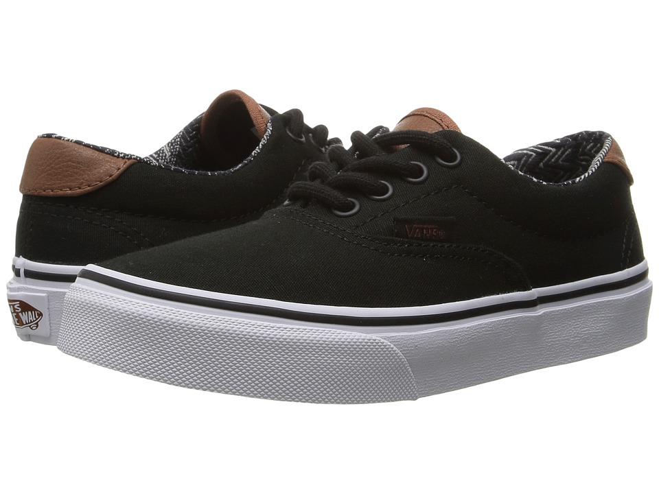 Vans Kids Era 59 (Little Kid/Big Kid) ((C&L) Black/Material Mix) Boys Shoes