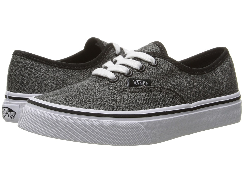 Vans Kids Authentic (Little Kid/Big Kid) ((Suiting) Black/True White) Boys Shoes