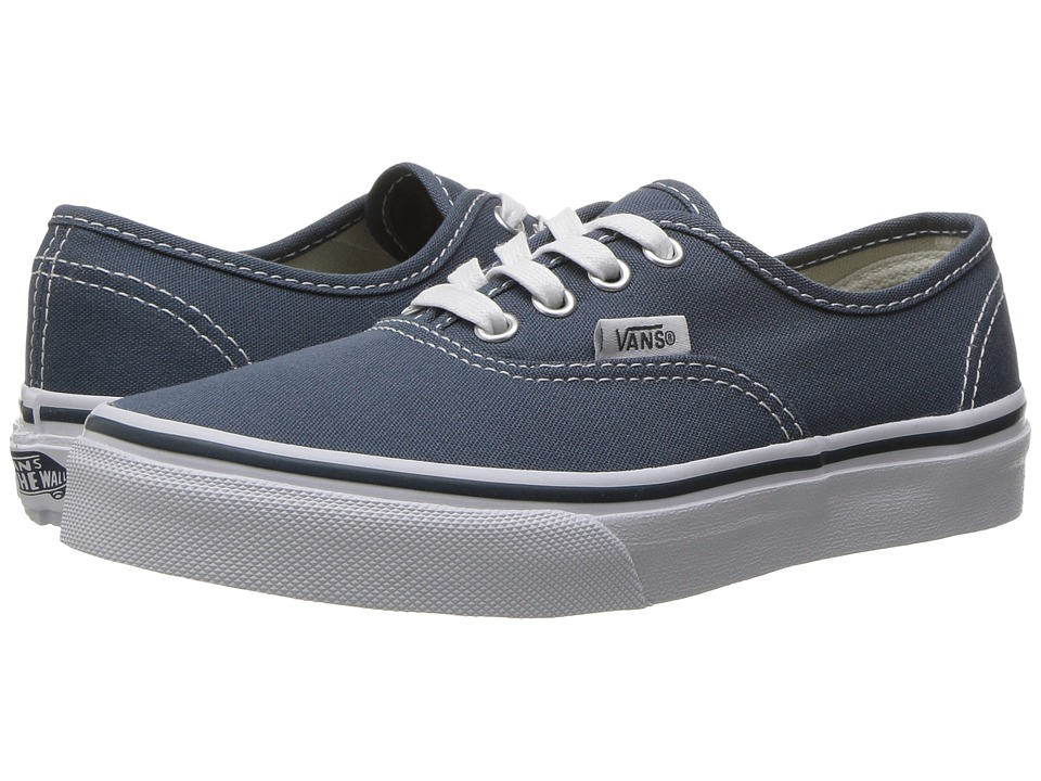 Vans Kids - Authentic (Little Kid/Big Kid) ((Canvas) Dark Slate/True White) Boys Shoes