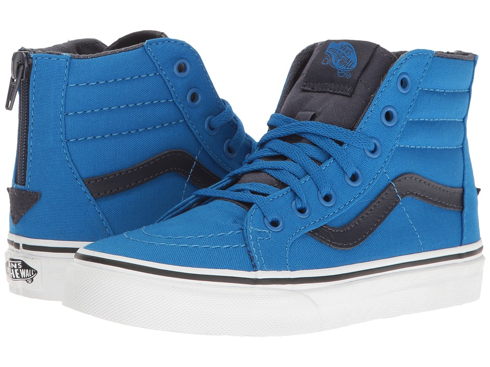 Vans Kids Sk8-Hi Zip (Little Kid/Big Kid) ((Canvas) Imperial Blue/Parisian Night) Boys Shoes