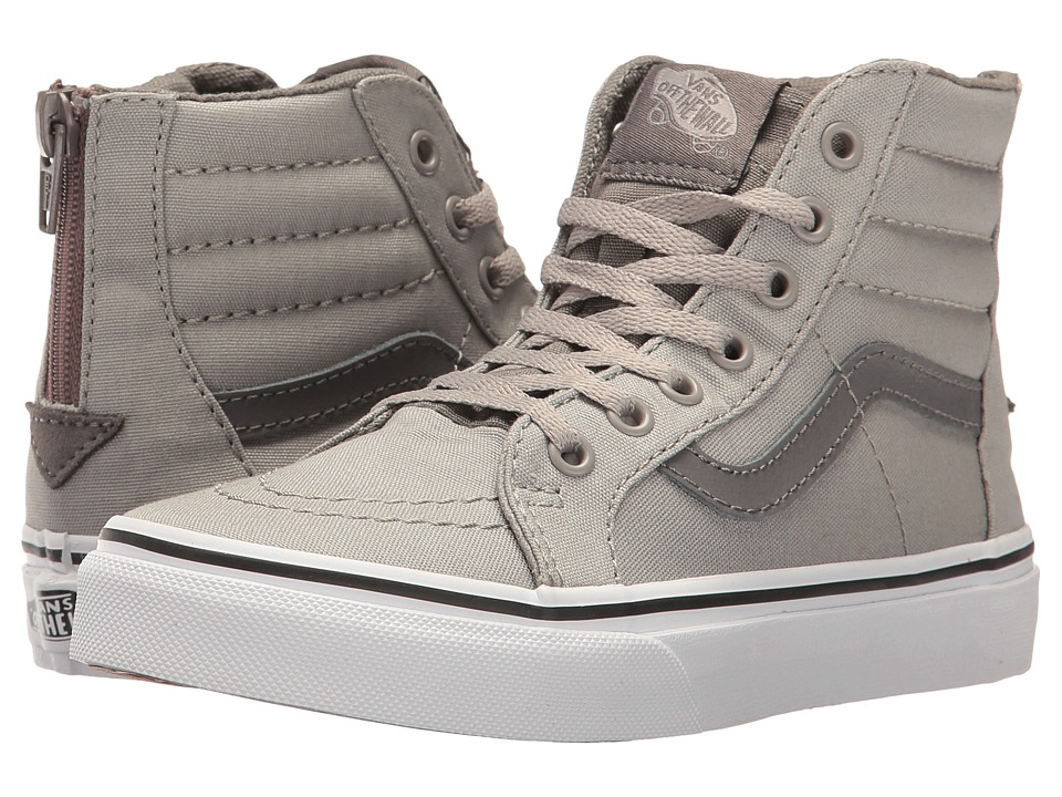 Vans Kids Sk8-Hi Zip (Little Kid/Big Kid) ((Canvas) Drizzle/Charcoal Gray) Boys Shoes