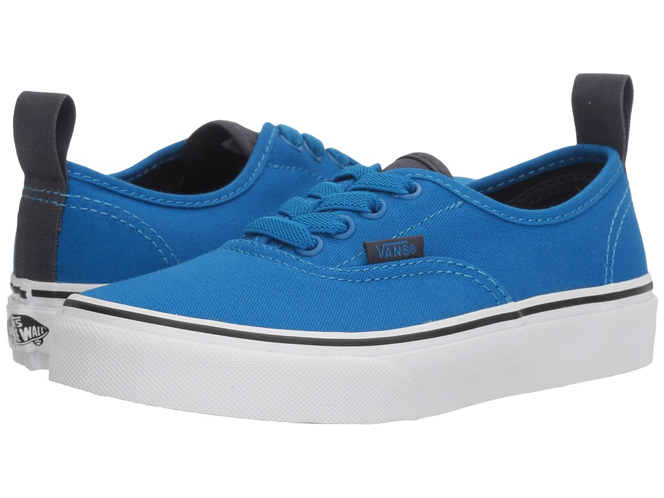 Vans Kids Authentic Elastic Lace (Little Kid/Big Kid) ((Canvas) Imperial Blue/Parisian Night) Boys Shoes