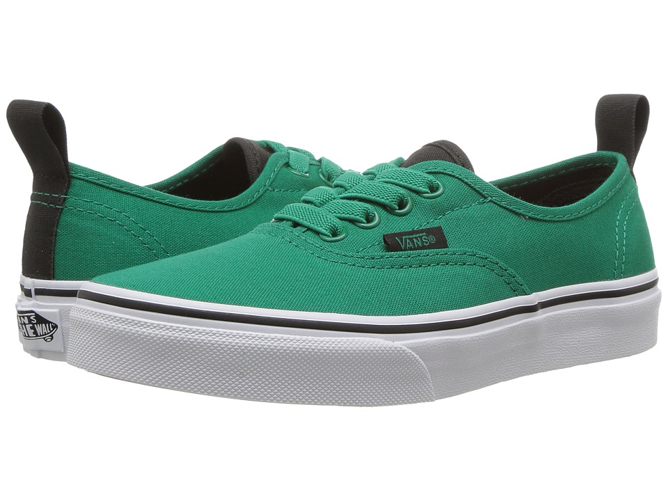 Vans Kids Authentic Elastic Lace (Little Kid/Big Kid) ((Canvas) Ultramarine Green/Pirate Black) Boys Shoes