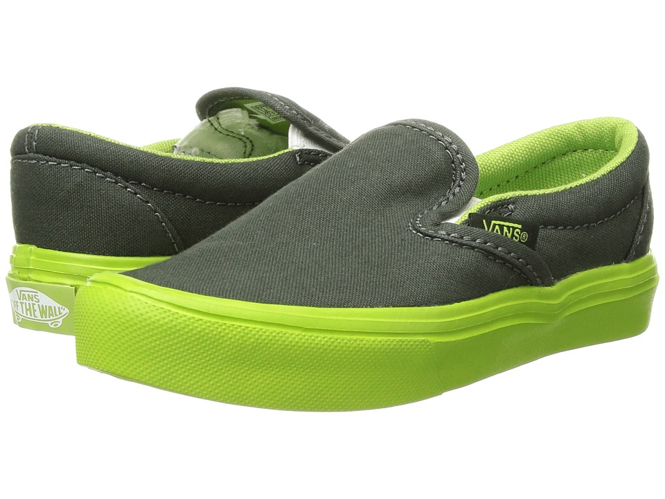 Vans Kids Classic Slip-On Lite (Little Kid/Big Kid) ((Sole Dip) Duffel Bag/Greenery) Boys Shoes