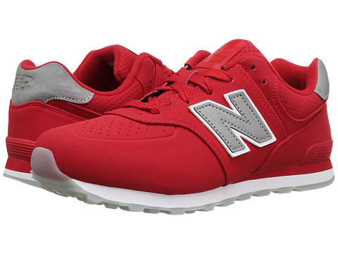 New Balance Kids KL574v1 Ice Rubber (Big Kid) - Chinese Red/White