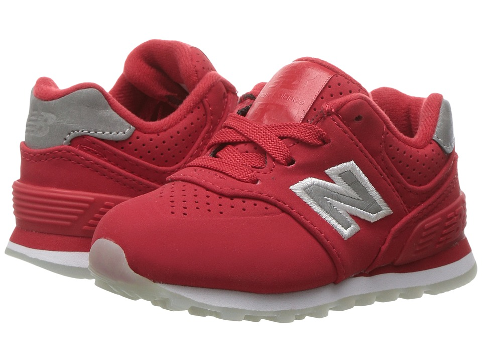 New Balance Kids KL574v1 Ice Rubber (Infant/Toddler) (Chinese Red/White) Boys Shoes