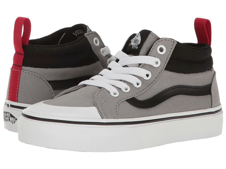 Vans Kids Racer Mid (Little Kid/Big Kid) ((Canvas) Wild Dove/Black) Boys Shoes