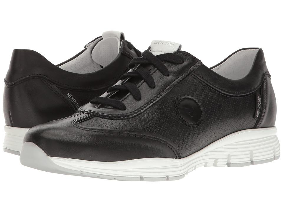 Mephisto - Yamina (Black/White Smooth/Black Magic) Womens Shoes