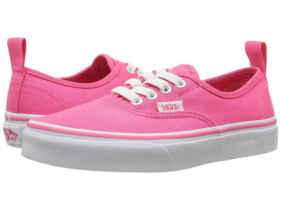 Vans Kids - Authentic Elastic Lace (Little Kid/Big Kid) (Hot Pink/True White) Girls Shoes