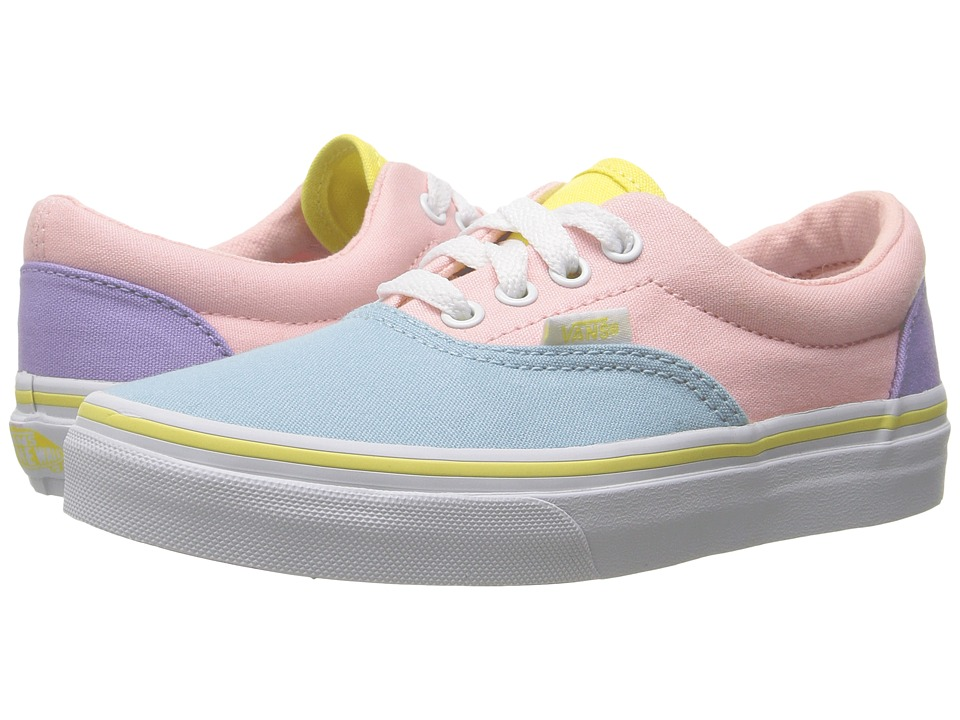 Vans Kids Era (Little Kid/Big Kid) ((Pastel Tones) Multi/True White) Girls Shoes