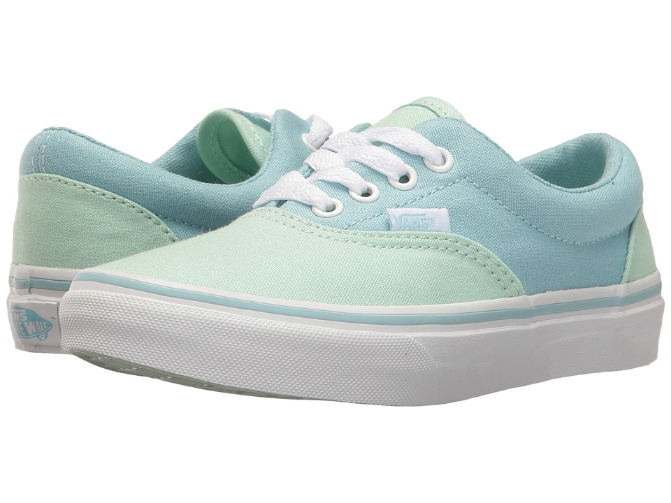 Vans Kids Era (Little Kid/Big Kid) ((Pastel Tones) Bay/Crystal Blue) Girls Shoes