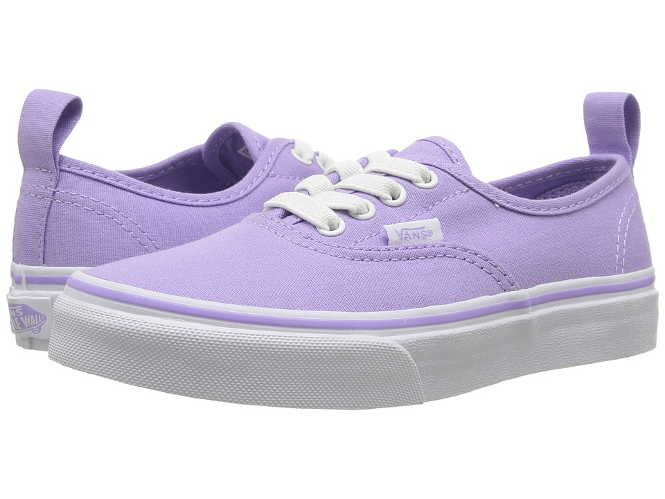 Vans Kids - Authentic Elastic Lace (Little Kid/Big Kid) (Lavender/True White) Girls Shoes