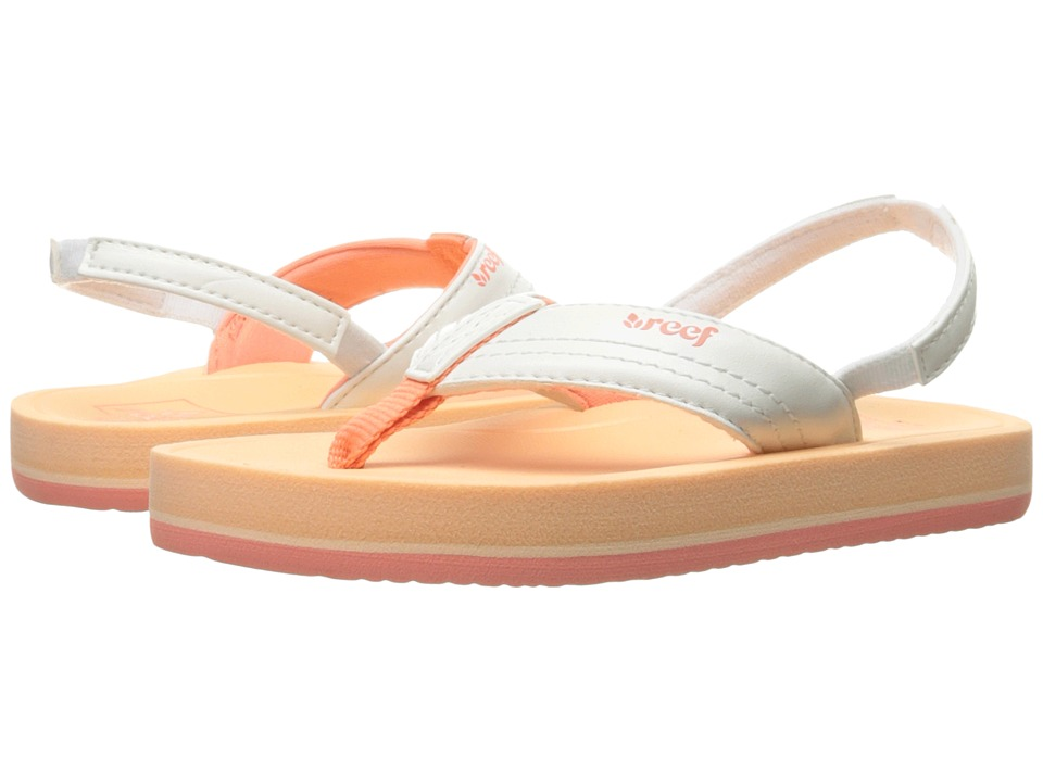 Reef Kids Little Splash (Infant/Toddler/Little Kid/Big Kid) (Creamsicle) Girls Shoes