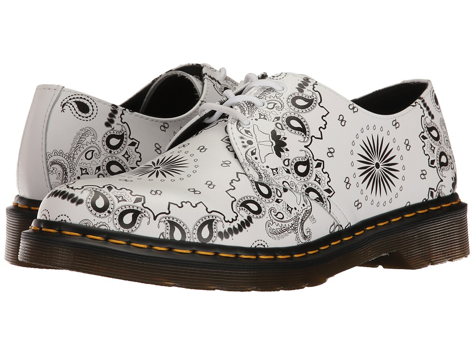 Dr. Martens 1461 (White/Black Bandana Backhand) Industrial Shoes