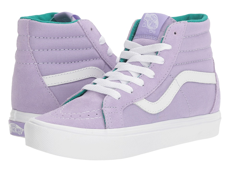 Vans Kids Sk8-Hi Reissue Lite (Little Kid/Big Kid) ((Pop) Lavender/True White) Girls Shoes