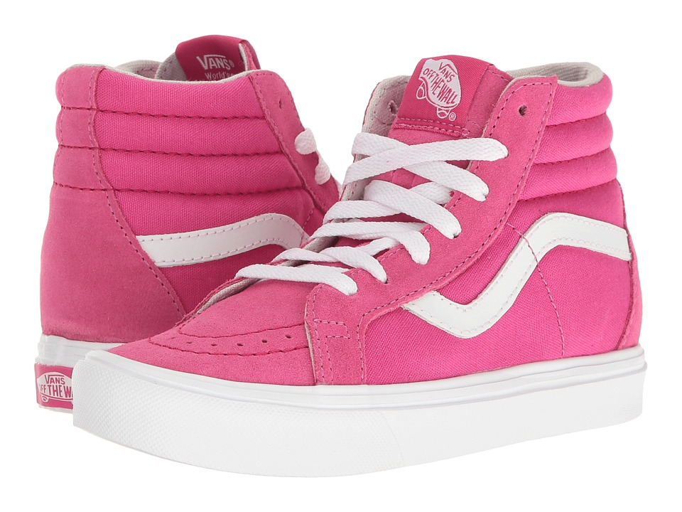 Vans Kids Sk8-Hi Reissue Lite (Little Kid/Big Kid) ((Pop) Beet Root/True White) Girls Shoes
