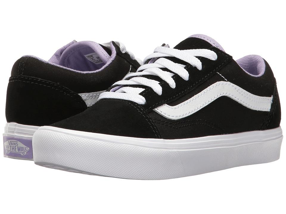 Vans Kids Old Skool Lite (Little Kid/Big Kid) ((Pop) Black/True White) Girls Shoes