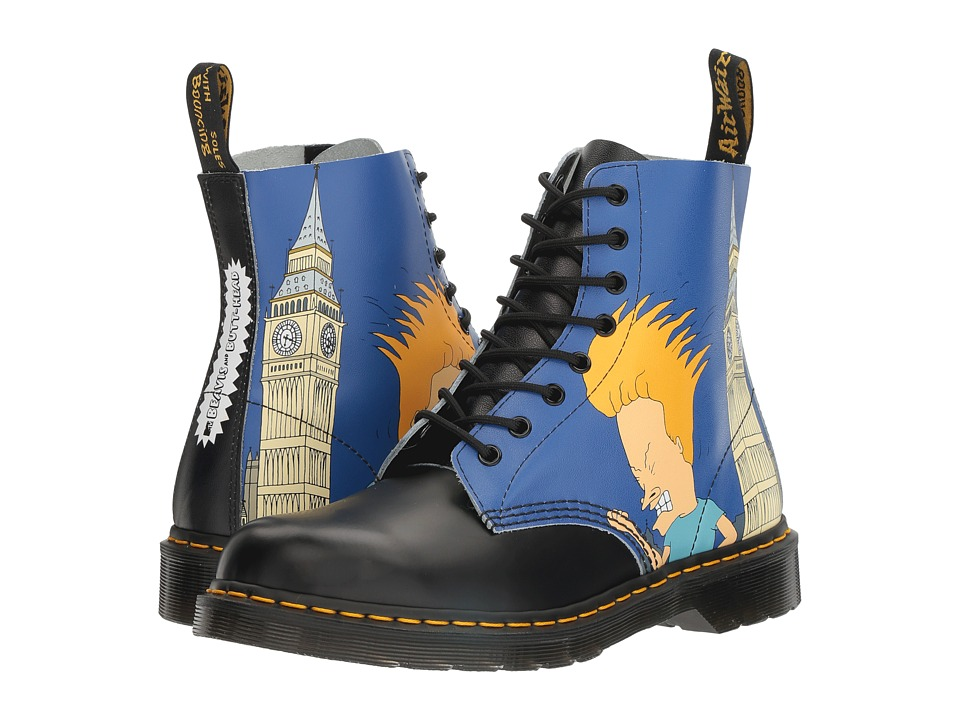 Dr. Martens Beavis and Butt-Head Pascal (Black/White B&B London Backhand/Smooth) Boots