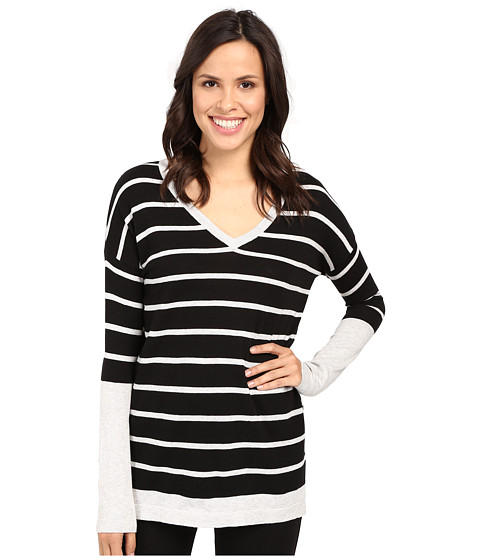 Fate Long Sleeve Stripe V Knit