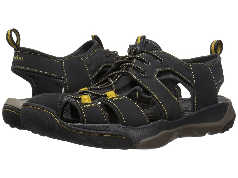 Jambu - Bryce Water-Ready (Charcoal/Yellow) Mens Sandals