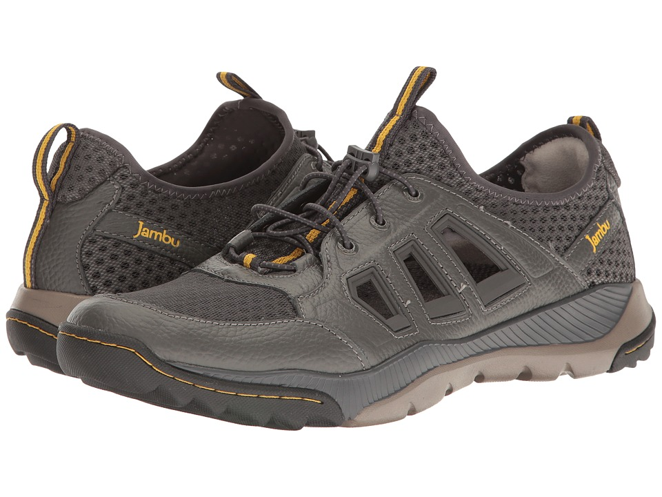 Jambu - Redwood Water-Ready (Charcoal/Yellow) Mens Shoes