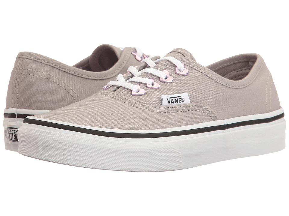 Vans Kids Authentic (Little Kid/Big Kid) ((Eyelet) Hearts/Grey) Girls Shoes