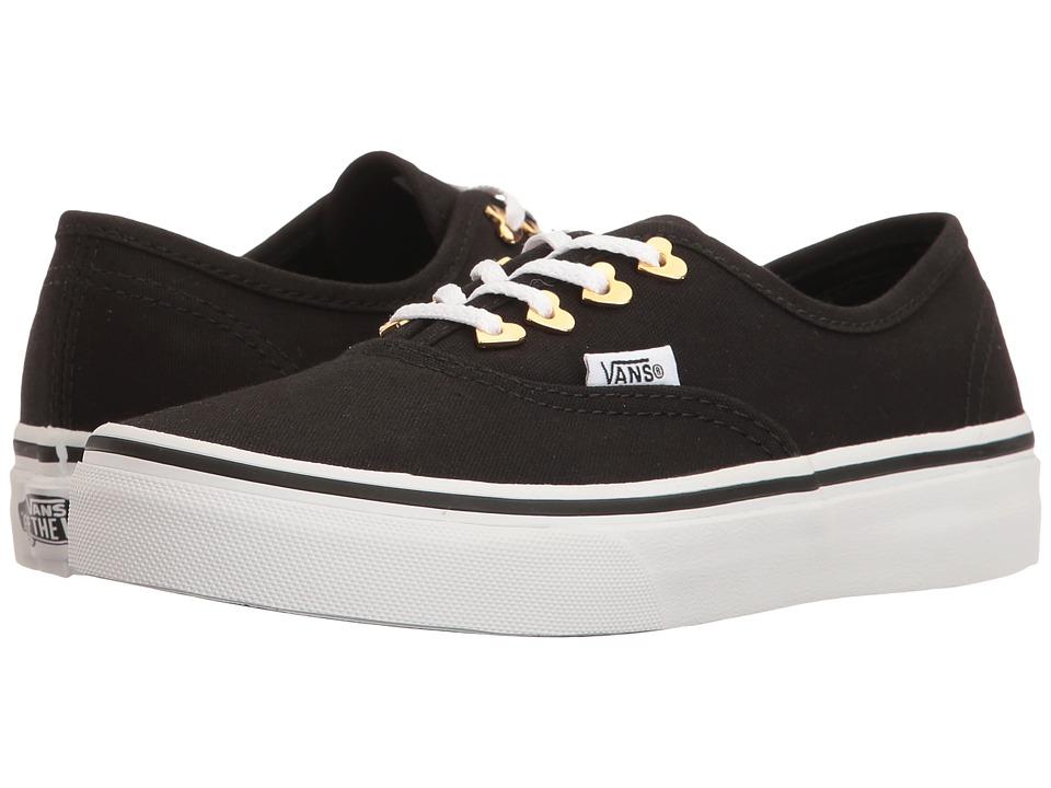 Vans Kids Authentic (Little Kid/Big Kid) ((Eyelet) Hearts/Black) Girls Shoes