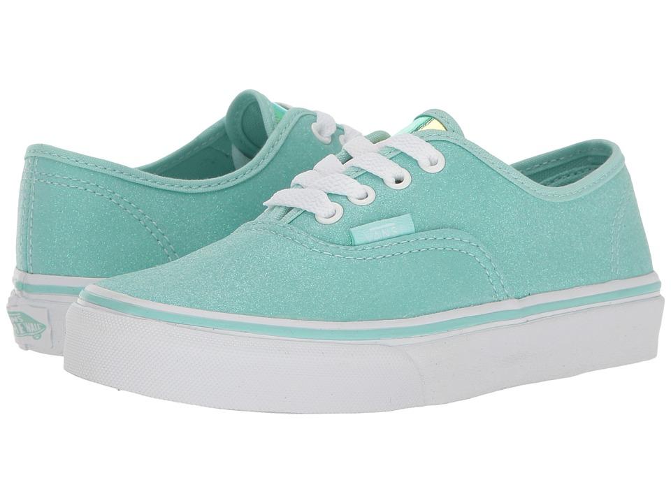 Vans Kids Authentic (Little Kid/Big Kid) ((Glitter & Iridescent) Blue/True White) Girls Shoes