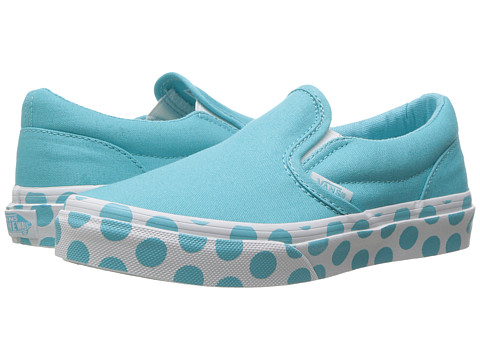 Vans Kids Classic Slip-On (Little Kid/Big Kid) - (Polka Dot) Blue Radiance/True White