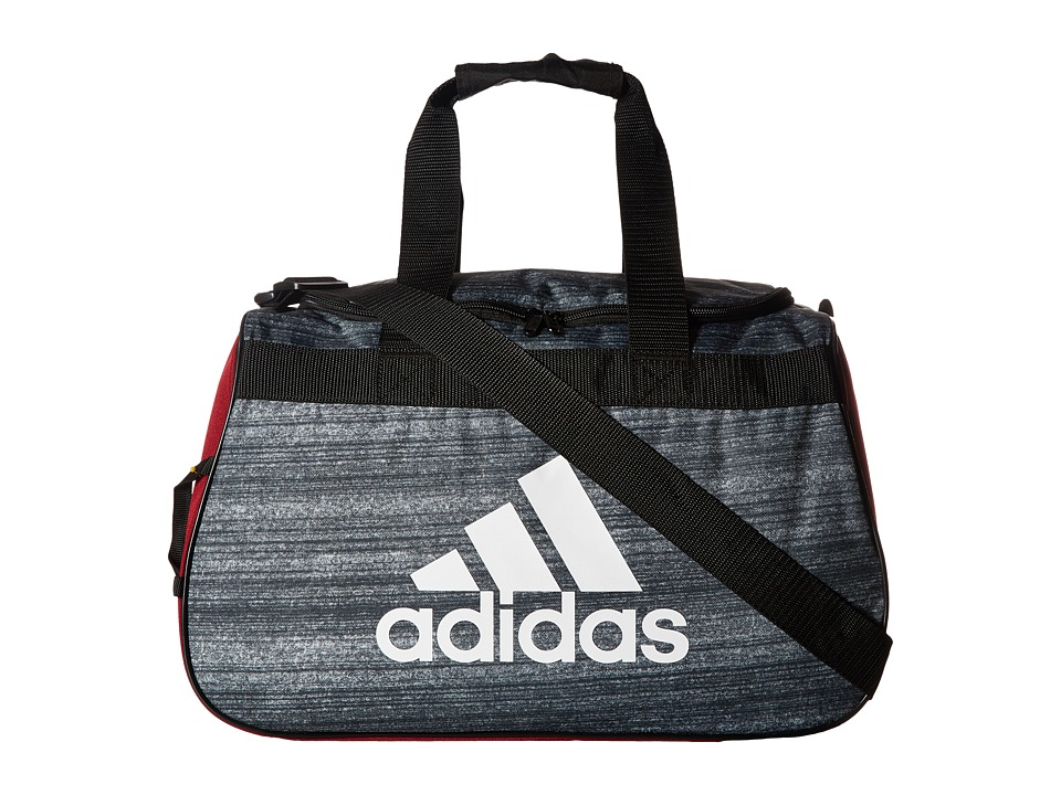 adidas Diablo Small Duffel (Noise Black/Collegiate Burgundy/Black/White) Duffel Bags