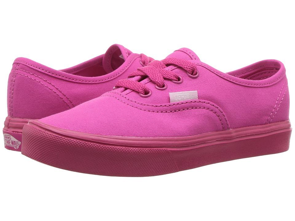 Vans Kids Authentic Lite (Little Kid/Big Kid) ((Mono) Beetroot Purple) Girls Shoes