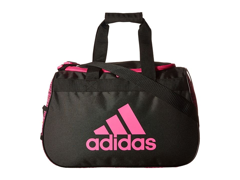adidas Diablo Small Duffel (Looper Shock Pink/Black/Shock Pink) Duffel Bags
