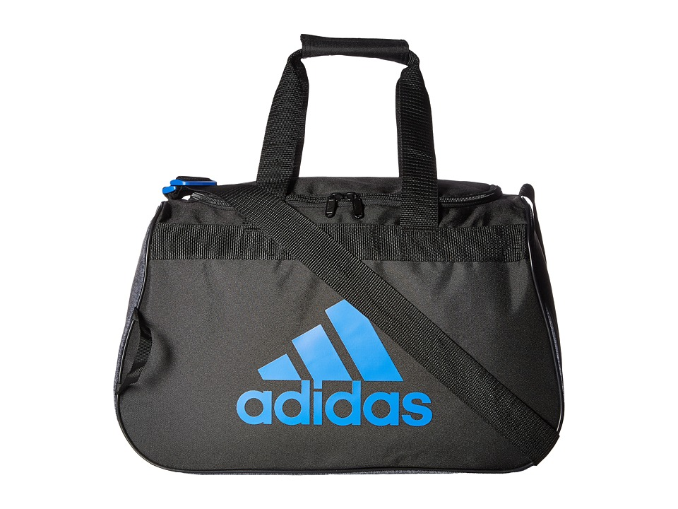 adidas Diablo Small Duffel (Black/Jersey Black/Blue) Duffel Bags